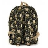 рюкзак городской Nosimoe 8302-03 (совы), бежево-черный