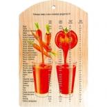 разделочная доска Marmiton Овощной коктейль (29х18,5 см) 17038