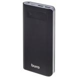 аксессуар для телефона Мобильный аккумулятор Buro RB-20000-LCD-QC3.0-I&O 20000mAh, черный/темно-серый