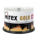 оптический диск Mirex CD-R 700 Mb, UL120054A8B, Gold, Cake Box (50 шт)