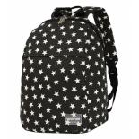 рюкзак городской Nosimoe 008D звезды, черный