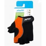 перчатки для фитнеса Starfit SU-108 (размер: М), оранжево-черные