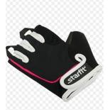 перчатки для фитнеса Starfit SU-111 (размер: М), черно-бело-розовые