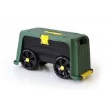 садовое оборудование Helex, Ящик-подставка на колесах 4 в 1, зеленый/черный