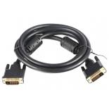 кабель (шнур) VCom VDV6300-1.8M (DVI-D DL, M/M, 1.8 м), чёрный