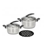 набор посуды для готовки Calve CL-1808, серебристый