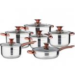 набор посуды для готовки Wellberg WB-1750 CP (из 12 предметов)
