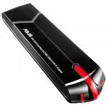 адаптер Wi-Fi ASUS USB-AC68, чёрный/красный