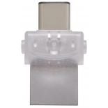 usb-флешка Kingston DataTraveler microDuo 3C 128Gb, прозрачная