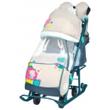санки-коляска Nika Ника Детям 7-2 (НД 7-2) мишка, бежевые