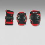 защита роликовая MaxCity Match, р. S, черная / красная