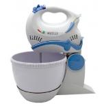 миксер кухонный Kelli KL-5044, белый/голубой