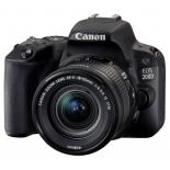 цифровой фотоаппарат Canon EOS 200D Kit (EF-S 18-55mm IS STM), черный