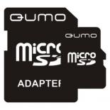карта памяти Qumo MicroSD 2Gb + SD adapter, Черная