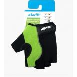 перчатки для фитнеса Starfit SU-108 (размер: L), зелено-черные