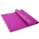 коврик для йоги Starfit FM-102 (173x61x0,6 см), с рисунком, фиолетовый