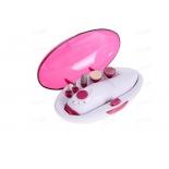 набор для маникюра и педикюра Vigor HX-8602, розовый