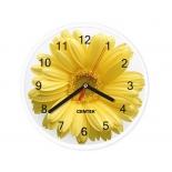 часы интерьерные Centek СТ-7102 Flower, желтые
