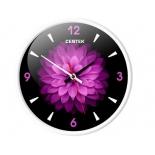 часы интерьерные Centek СТ-7104 Flower, черно- фиолетовые