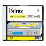Оптический диск Mirex DVD-R 4.7 Gb, UL130003A1S, Slim Case (1 шт)
