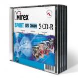 оптический диск Mirex CD-R 700 Mb, Sport, Slim Case (5 шт)