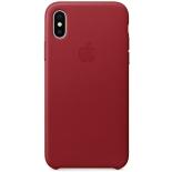 чехол iphone Apple для iPhone X Leather Case, красный