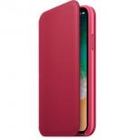чехол для смартфона Apple для iPhone X Leather Folio (MQRX2ZM/A) , berry