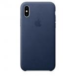 чехол для смартфона Apple для iPhone X Leather Case - темно-синий
