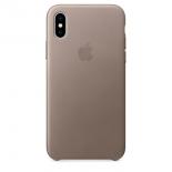 чехол для смартфона Apple для iPhone X Leather Case - Taupe (MQT92ZM/A)