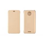 чехол для смартфона Lenovo для Motorola Moto E Plus Flip Cover, золотой