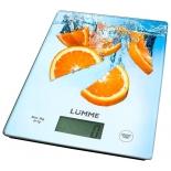 кухонные весы Lumme LU-1340 (рисунок апельсиновый фреш)