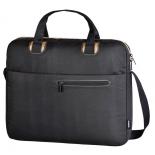 сумка для ноутбука Hama San Francisco Public 15.6, черная с коричневым