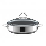 жаровня ВСМПО Гурман-Стекло (диаметр - 24 см), с крышкой