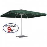 зонт садовый Торг-хаус Квадрат (3х3 м) зеленый