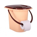 ведро-туалет Альтернатива М6081, бежево-коричневое