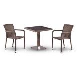 стол со стульями Afina T502DG/A2001G-W1289 Pale (2+1) комплект