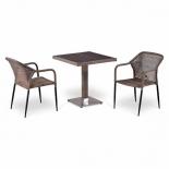 стол со стульями Afina T502DG/Y35G-W1289, pale (2+1) комплект