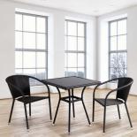 стол со стульями Afina T282BNS/Y137C-W53, brown (2+1) комплект
