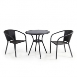 стол со стульями Afina T282ANS/Y137C-W53, Brown (2+1) комплект