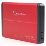 корпус для жесткого диска Gembird EE2-U3S-2-R, красный