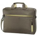 Сумка для ноутбука Hama Marseille Style Notebook Bag 15.6, коричнево-желтая, купить за 1 420руб.