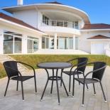 стол со стульями Afina T282ANS/Y137C-W53, коричневые (3+1)