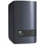 сетевой накопитель WD My Cloud EX2 Ultra, без дисков (2x USB3, LAN, WDBSHB0000NCH-EEUE), чёрный