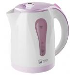 чайник электрический Home-Element HE-KT156, белый/фиолетовый