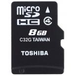 карта памяти Toshiba THN-M102K0080M2, Черная