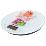 кухонные весы Supra BSS-4602, белые с рисунком