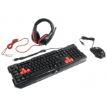 комплект Genius GX Gaming KMH-200, черный