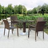 стол со стульями Afina обеденная T606SWT/A2001B-W53,на 4 персоны, коричневый