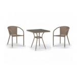 стол со стульями Afina T282BNT/Y137C-W56 (2+1), светло-коричневый