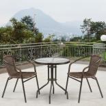 стол со стульями Afina Асоль-1D CDC01/TLH060-D60, 2+1, коричневое